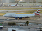 BA 747 makes the turn for the runway