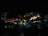 Universal Studios Theme park after closing time