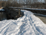 Snow only cleared on the bottom of the aqueduct.jpg