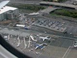 US Airways and Midwest airlines jets at San Jose