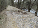 March 28th - The first washout north of Whites Ferry