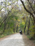 Long distance bikers