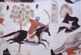 Mogao Grotto Fresco of Hunting Scene