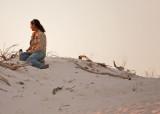 Enjoying the sunset at White Sands