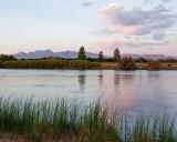 Organ Mountains from the Rio Grande near Mesilla, NM