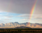 Organ Mountains after summer rains from our house near Mesilla, NM