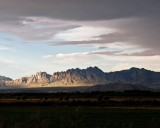 Organ Mountains at sunset from our house near Mesilla, NM