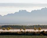 Morning fog along Rio Grande valley