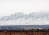 Heavy snow in Organ Mountains above Las Cruces, NM