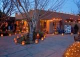 Christmas luminarias at Josefina's