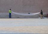 Preparing  the fishing nets