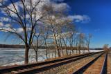 Railroad Tracks along Hudson RiverJanuary 31, 2010