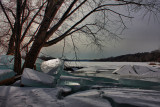 Ice on Mohawk River in HDRFebruary 22, 2010