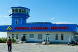 Dalanzadgad Airport, the starting point for our trip to the Gobi