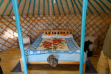 Interior of our ger at Gobi Discovery Camp