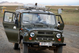 This was our transportation in the Gobi -- a Russian-made jeep