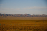 View of mountains from Gobi Discovery Camp