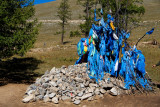 Mounument to local spirits located at a mountain pass near Lake Khuvsgul