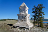 Monument to two children who died under mysterious circumstances near Khatgal