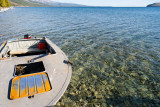 The Lake has crystal clear water