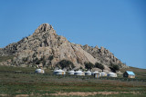 Ger camp near Hustai National Park