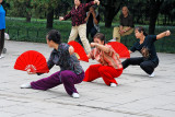 Women doing tai chi in Temple of Heaven Park