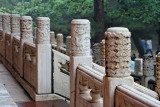 Detail of railing-top pillars, Hall of Eminent Favor