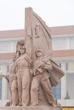 Statue at Mao Zedong Memorial, Tiananmen Square