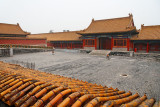 Forbidden City buildings, with yellow roofs to symbolize the Emperor