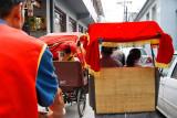 Pedicab traffic jam in the Hutong