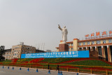 Statue of Chairman Mao presiding over Tianfu Square.  I wonder if he was a soccer fan?