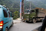 We witnessed this minor traffic accident on the way from Chengdu to Wolong