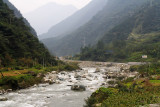 This river runs the length of the Valley leading to Wolong