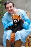 Chris with Red Panda at Chengdu