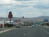 Downtown Butte, Montana- fast food with a huge open pit mine as a backdrop