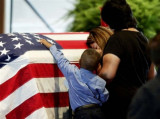A SOLDIER COMES HOME . . HAVING GIVEN HIS LIFE FOR *US* !