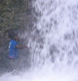 Devina in the waterfall