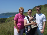 Family on Cliff