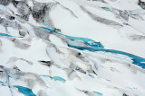 Flying Over Glacial Ice
