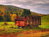 Farm Wagon in the Fall