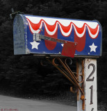 Painted _ Patriotic Mailbox