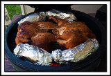 Spatchcock Chickens Cooking On The Big Green Egg