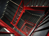 5th: Red & Gray Stairwell by tvsometime