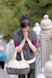 Praying to the Giant Buddha