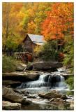 Glade Creek Grist Mill Autumn (portrait)