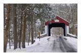 Winter Along Cabin Run Covered Bridge