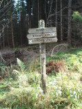 Weathered signpost