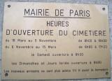 Montparnasse Cemetery Hours
