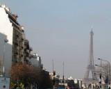Eiffel Tower seen from Gare Montparnasse
