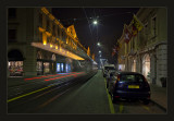 Geneva at night... outgoing tram ....